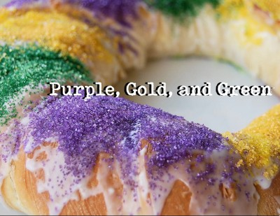 Purple, Gold, and Green