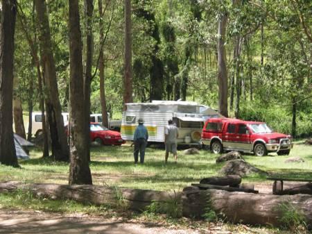 Campers settling in