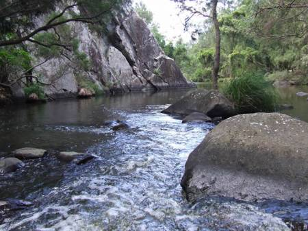 Rapids above the Rock Wall swimming hole