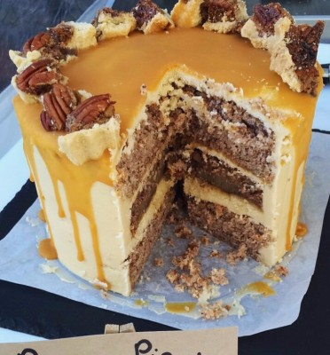 Pecan Pie and Salted Caramel Cake