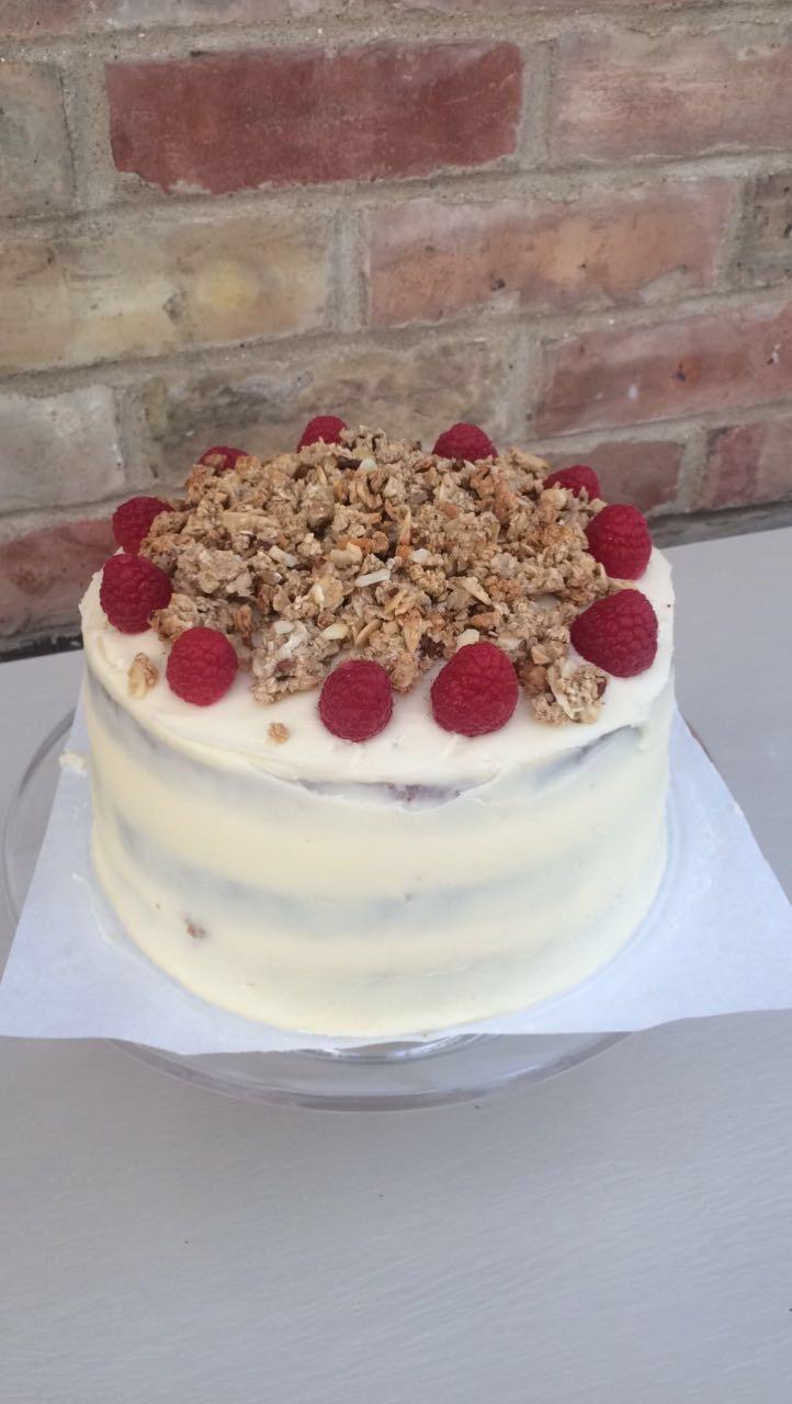 Raspberry Cranachan Cake