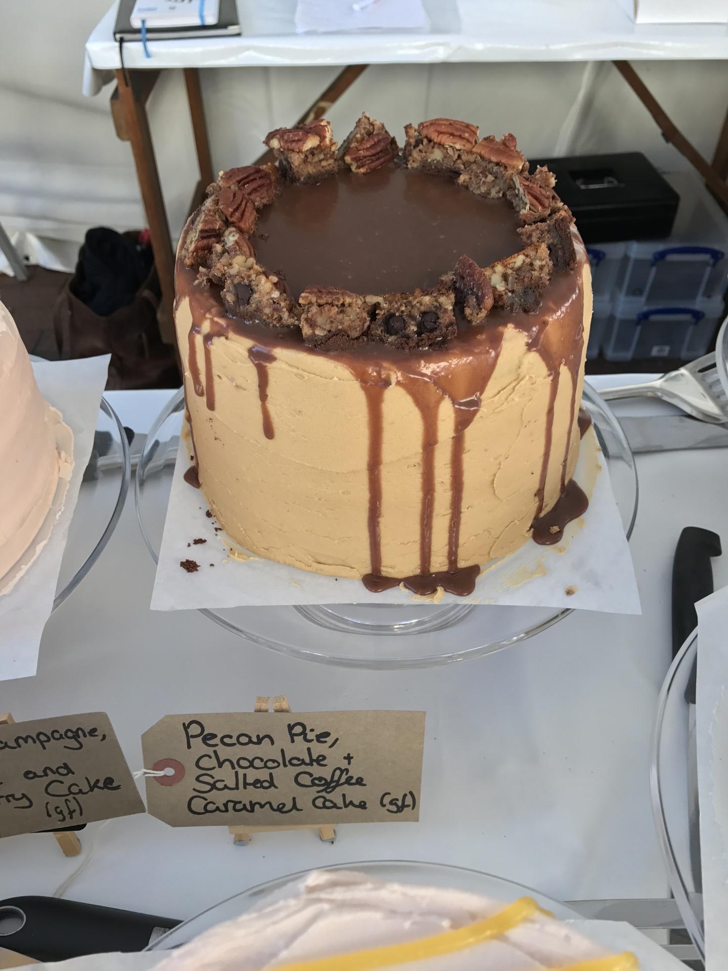 Pecan Pie, Chocolate and Salted Coffee Caramel Cake
