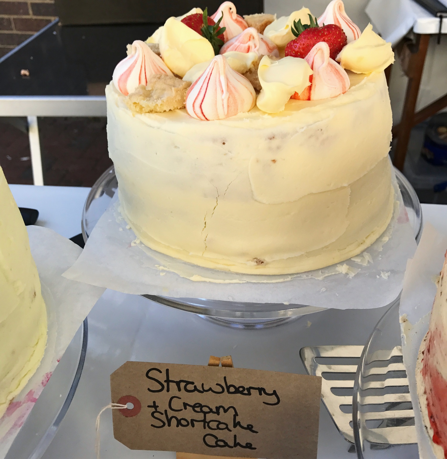 Strawberry and Cream Shortcake Cake