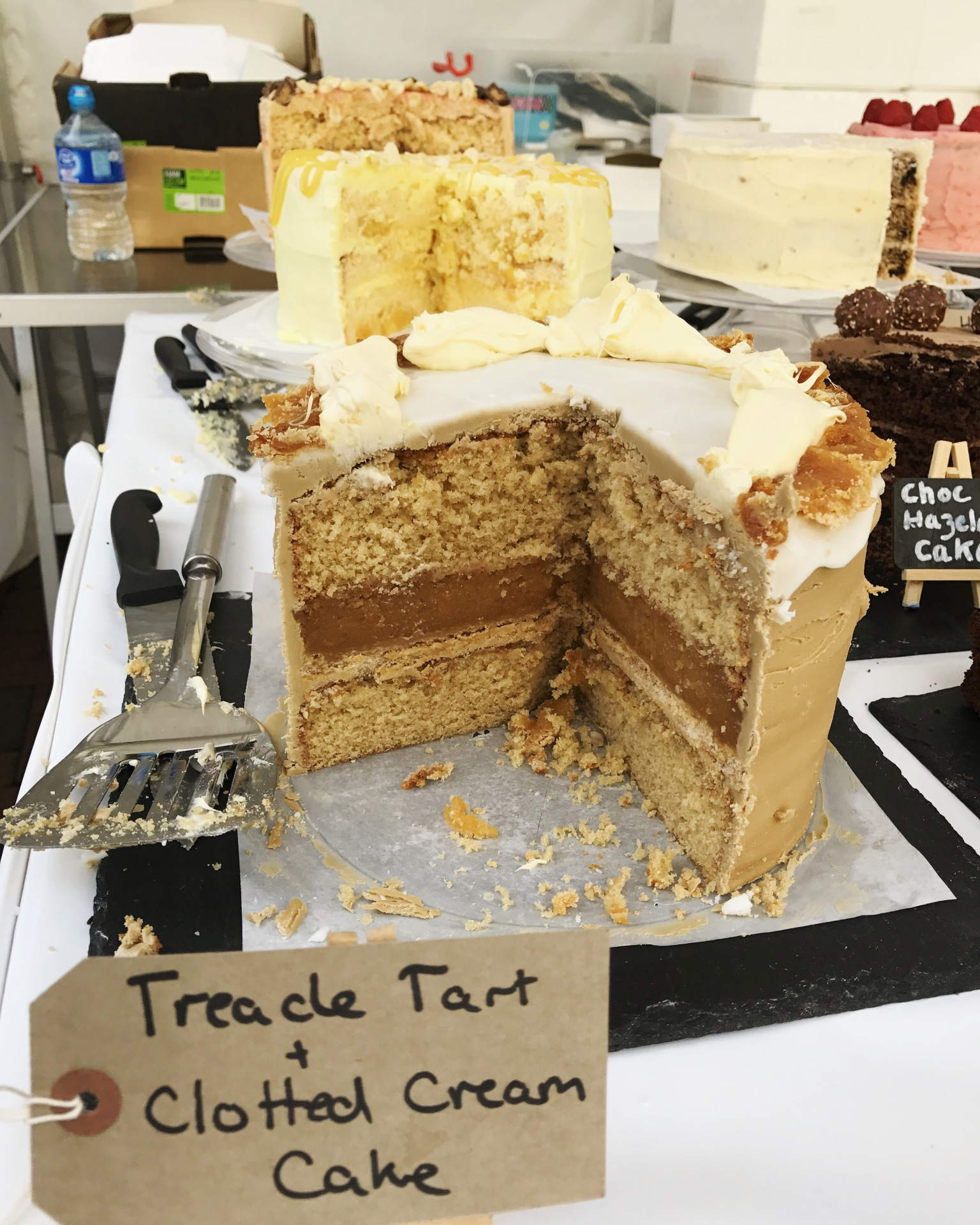 Treacle Tart & Clotted Cream Cake