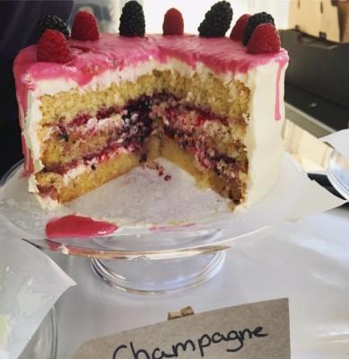 Champagne and Chambord Cake