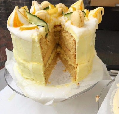 Ely Lemon Gin and Cucumber Tonic Tart Cake