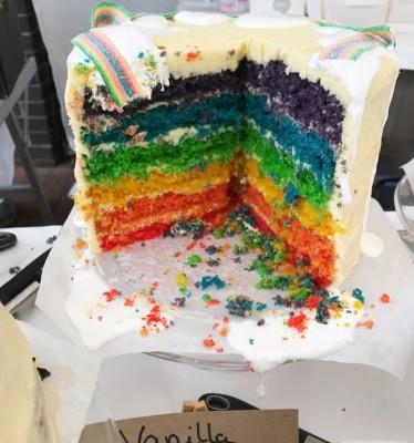 Vanilla Rainbow Cake