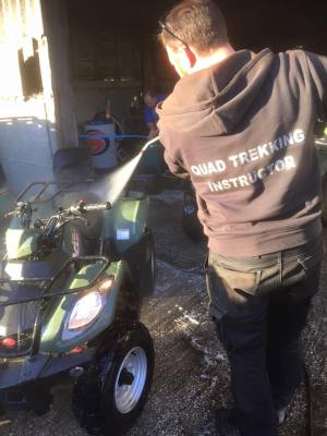 quad bikes are cleaned daily and service