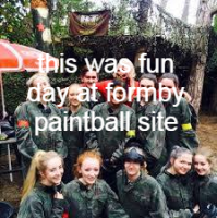 paintballing hen-party