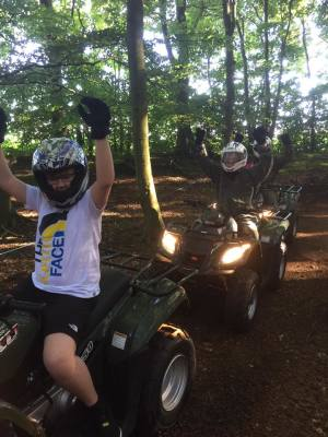 """fantastic fun"" at Liverpool quad biking"