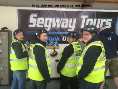 Viktor  lads day out on segway northwest