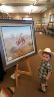 western art, old west, len babb western artist, bronc rider, bronco, buckaroo artist, len babb western art, cowboy art, bronze sculpture