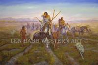 #lenbabb #westernart #plainsindians #charlesmrussell