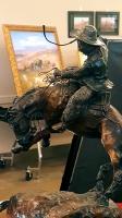 Bronze sculpture, western art, len babb , len babb western art, cowboy art, cowboy artist, buckaroo art, buckaroo artist, buckaroo, cowboy, rustic