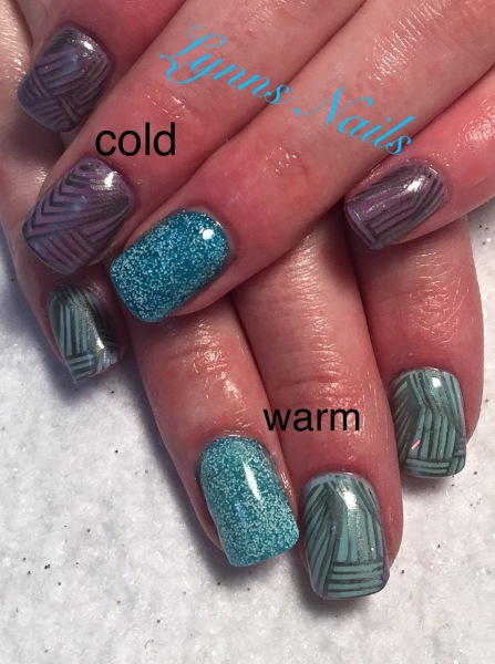 Color changing acrylic and stamping