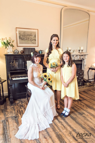 Bride and bridesmaids at Crook Hall and Gardens, Newcastle wedding photography by Cacha Photography