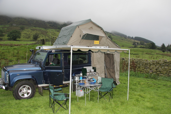 First outing with the roof-tent, Yorkshire 2012