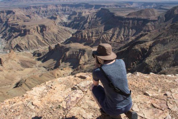 Liz at Fish River Canyon
