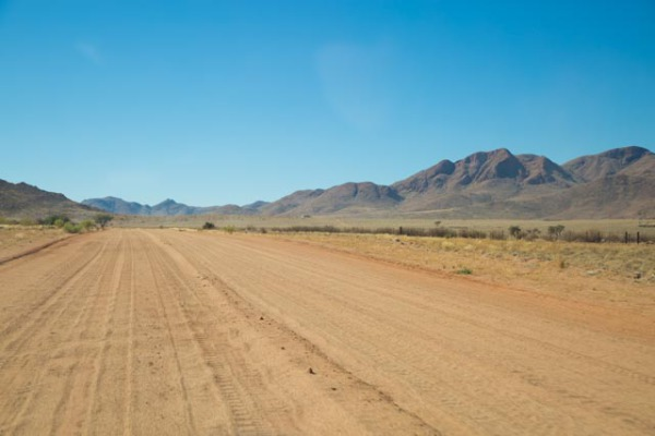 typical Namibia road