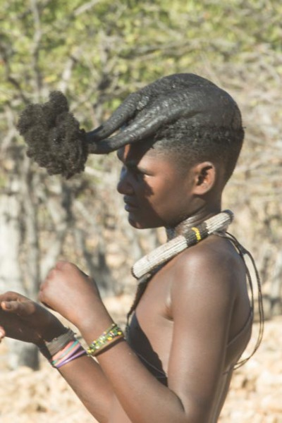 Himba asking for water