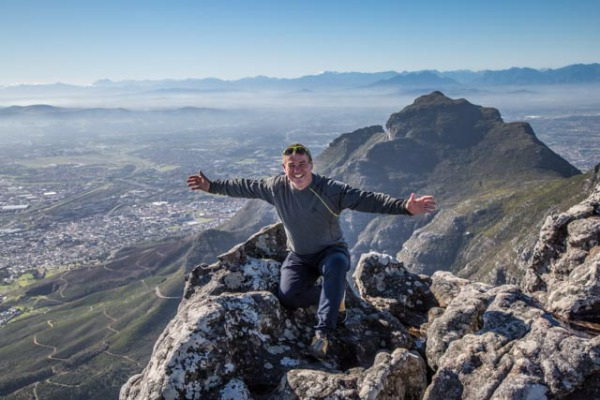 Richard at the top of Table Mountain in Cape Town