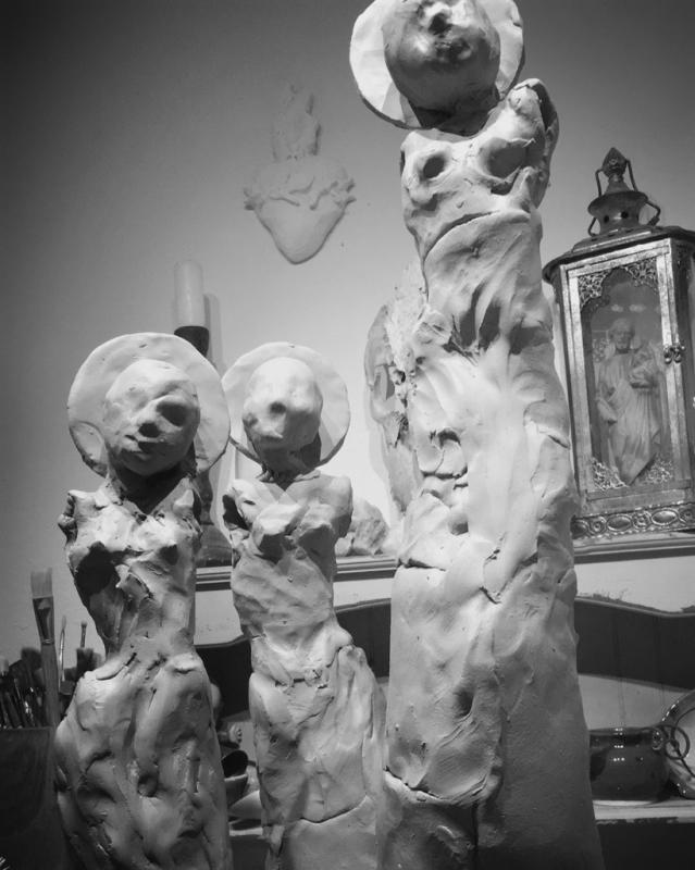 Nina Cork Sculpture in progress