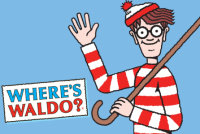 Where's Waldo? game for the kids at a children's hospital