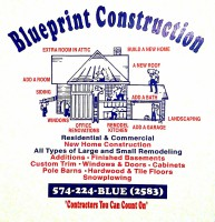 Blueprint Construction, blueprint, Rochester IN, 46975