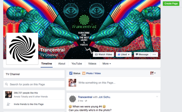 300K facebook page  look &feel