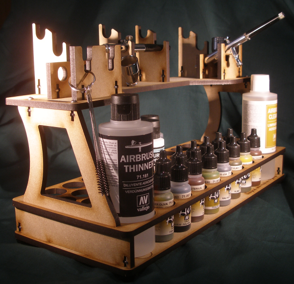 Model Air Airbrush & Paint Rack