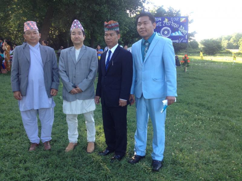 Advisor Milan K Rai with Bhutanese Kirat Rai members at Sakela 2014.