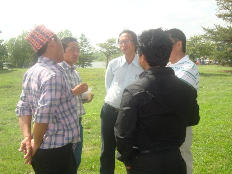 Newly arrived Bhutanese Rai participating in Sakela 2010.