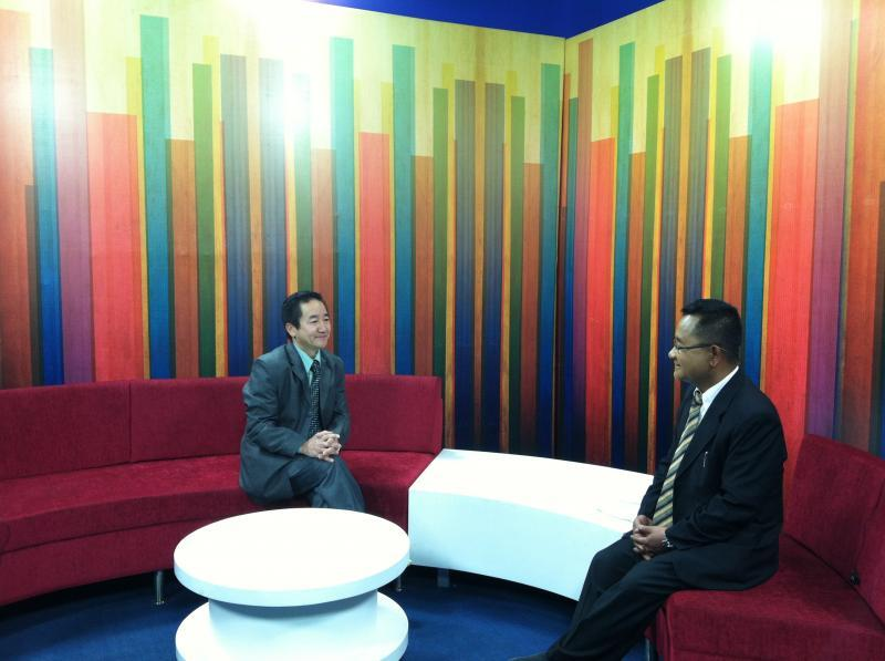 President Milan K Rai in conversation with Sagarmatha TV.