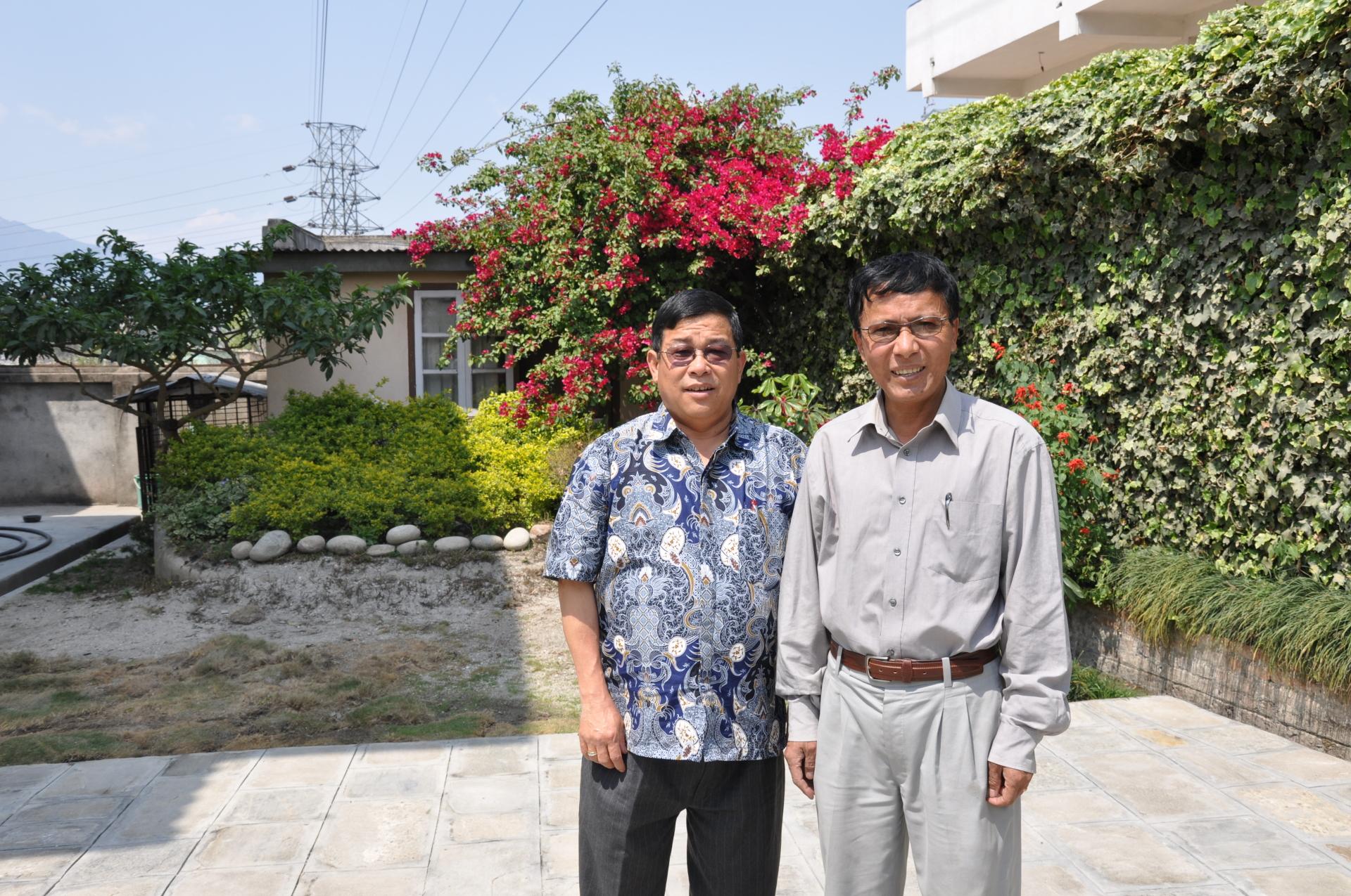 President Milan K Rai with Dr. Bhattachan