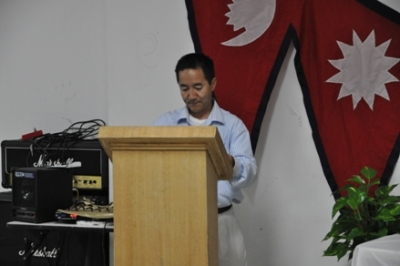 President Milan Rai giving speech in honor of the late Former Cabinet Minister, Bal Bahadur Rai. (2012)