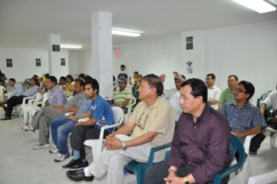 Participants at the memorial of Late Bal Bahadur Rai