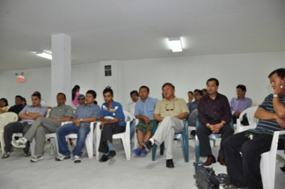 Participants at the memorial of Late Bal Bahadur Rai