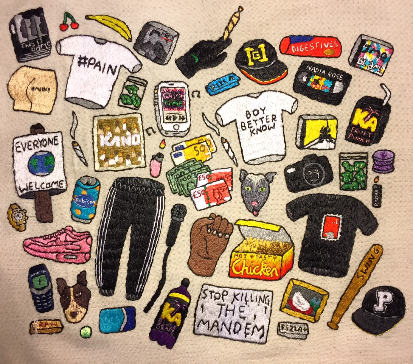 Hannah Hill Grime Embroidery