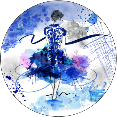 LET'S DANCE - BLUE - 80cm x 80cm x 3cm   was $800 - now $740