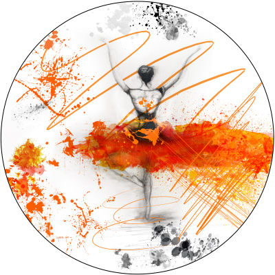 LET'S DANCE - ORANGE - 80cm x 80cm x 3cm                                                    was $800 - now $740