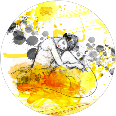 LET'S DANCE - YELLOW - 80cm x 80cm x 3cm   was $800 - now $740