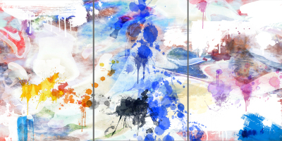 GIVE ME COLOUR - Triptych - $1,900- 120cm x 240cm x 3cm