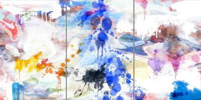 GIVE ME COLOUR - Triptych - $1,900 - 120cm x 240cm x 3cm