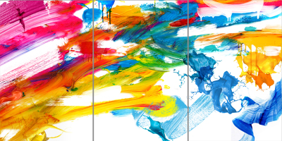 PARTY PALETTE - Triptych - $1,900 - 120cm x 240cm x 3cm