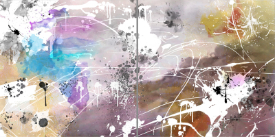 PERFECT DAY - Diptych - $1,900 - 120cm x 240cm x 3cm