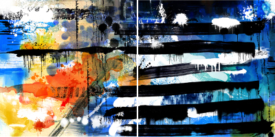 HOPE AND STRENDTH - Diptych - $2,400 - 120cm x 240cm x 3cm
