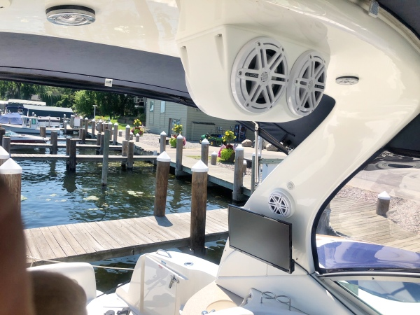 We can add more speakers and even TVs to your boat