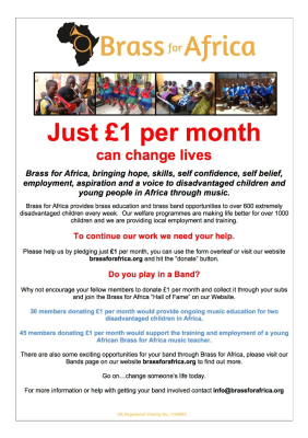 Just £1 per month can change lives!
