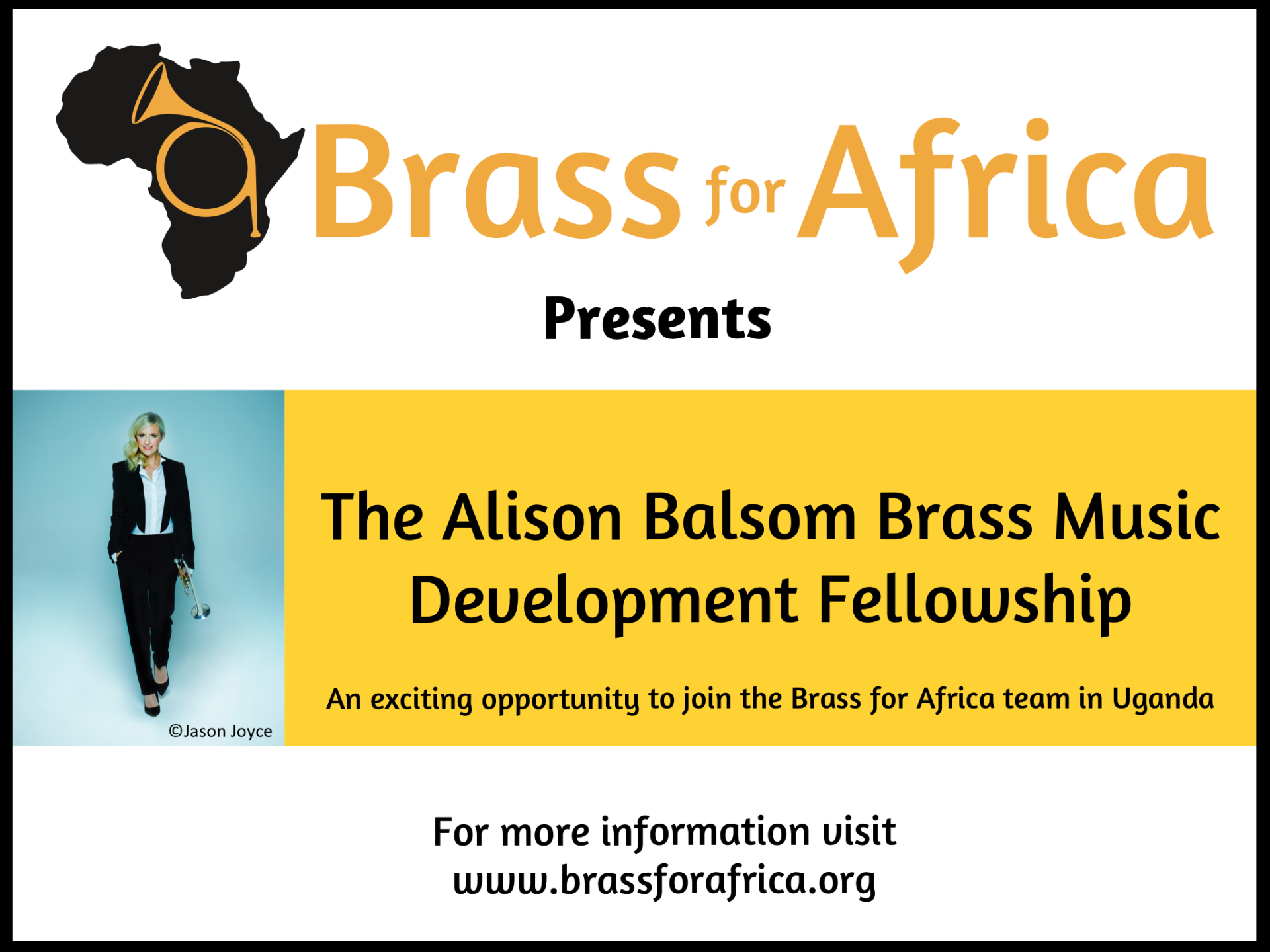 The Alison Balsom Brass Music Development Fellowship