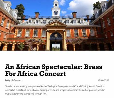An African Spectacular with Wellington College!